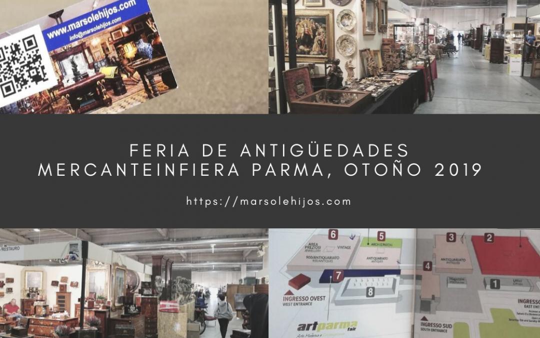 La feria de antigüedades Mercainfiera en Parma, 2019