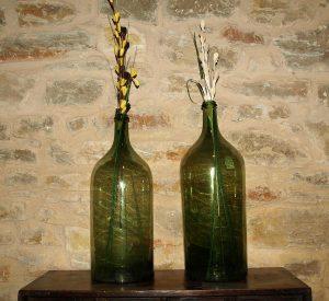 Botellas antiguas de vidrio