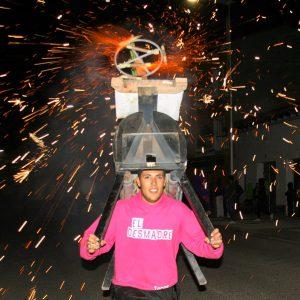 Toro de fuego en las fiestas de San Roque