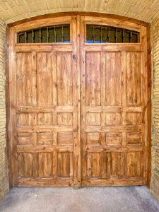 Resultado final de puerta de madera